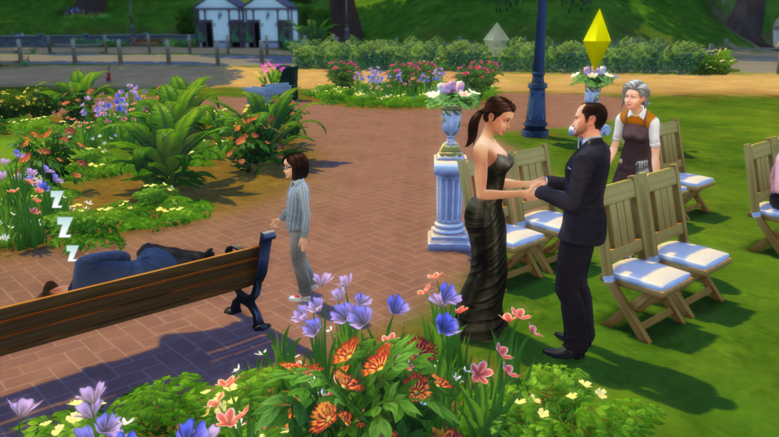 sims 4 wedding event