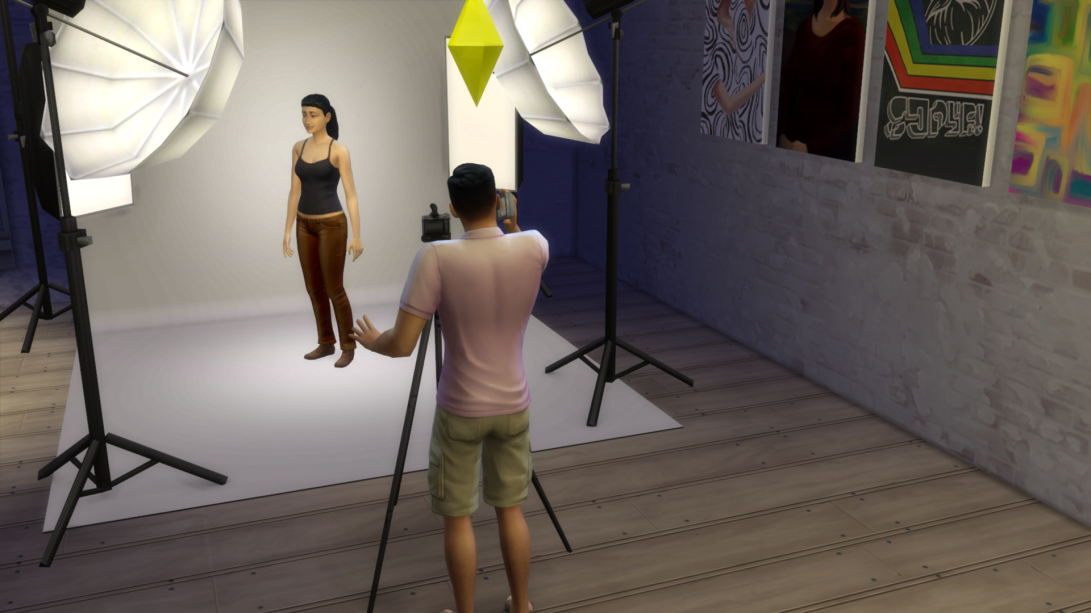 sims 4 get to work photography studio
